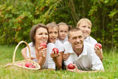 Família a um piquenique — Foto Stock