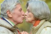 Handsome elderly couple — Stock Photo