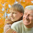 Grandparent and kid — Stock Photo