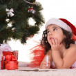 Little girl celebrating Christmas — Stock Photo #37232141