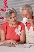 Couple de personnes âgées nice — Photo
