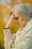 Senior woman on nature — Stock Photo