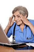 Serious senior doctor — Stock Photo
