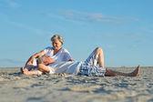 Grappig bejaarde echtpaar — Stockfoto