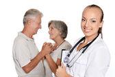 Pacjentów wizyty lekarz — Zdjęcie stockowe