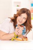 Happy dieting woman — Zdjęcie stockowe