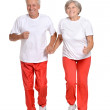 Senior Couple Exercising — Stock Photo