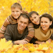 Happy family in the autumn park — Stock Photo #39656835