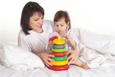 Girl with her mama — Stock Photo