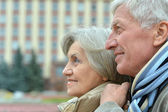 Good-looking elderly couple — Stock Photo