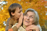 Grandmother and grandson — Stock Photo