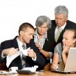 Stock Photo: Business people at work