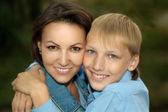 Retrato de mãe e filho — Fotografia Stock