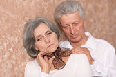 Portrait of an elder couple — Stock Photo