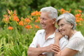 Loving elder couple — Stockfoto
