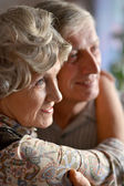 Portret van een gelukkige senior paar — Stockfoto