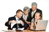 Uomini d'affari al lavoro — Foto Stock