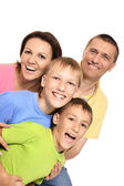 Portret van een familie — Stockfoto