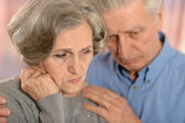 Sad elder couple — Stock Photo