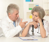 Elderly doctors — Stock Photo