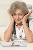 Senior woman doctor — Stock Photo