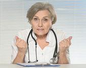 Senior woman doctor — Stock Photo