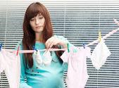 Bonita mujer embarazada — Foto de Stock