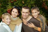 Happy family of four  — Stock Photo
