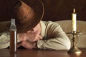 Elderly cowboy — Stock Photo