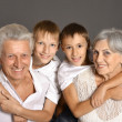 Stock Photo: Grandparents with grandkids