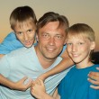 Father with sons — Stock Photo
