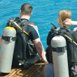 Two scuba divers — Stock Photo