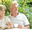 Beautiful happy old couple — Stock Photo #42392425