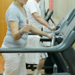 Stock Photo: Elderly couple in a gym
