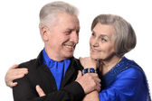 Portrait of an old couple — Stock Photo