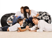 Family spending time at home — Stock Photo