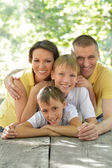 Portrait of happy family — Foto Stock