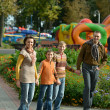 Happy family on a walk — Stock Photo #42880399