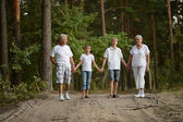Kids with grandparents — Stock Photo