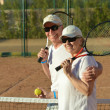 Senior couple playing tennis — Stock Photo #43804863