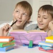 Two brothers doing homework — Stock Photo #43805123
