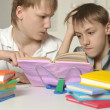 Two brothers doing homework — Stock Photo #43805839