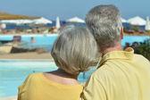 Senior couple at sea — Photo