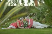 Couple d'amoureux aîné — Photo