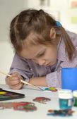 Little girl paint — Stock Photo