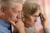Chory starszy kilka — Zdjęcie stockowe