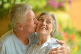 пожилые супружеские пары на курорте — Стоковое фото