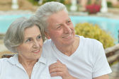 Senior couple at the resort — Foto de Stock