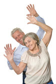 Känslomässiga äldre par — Stockfoto