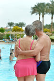 Senior couple at the resort — Stock Photo
